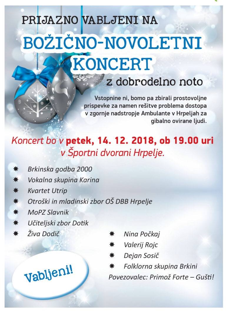 Novoletni koncert Občine Hrpelje Kozina @ Športna dvorana Hrpelje