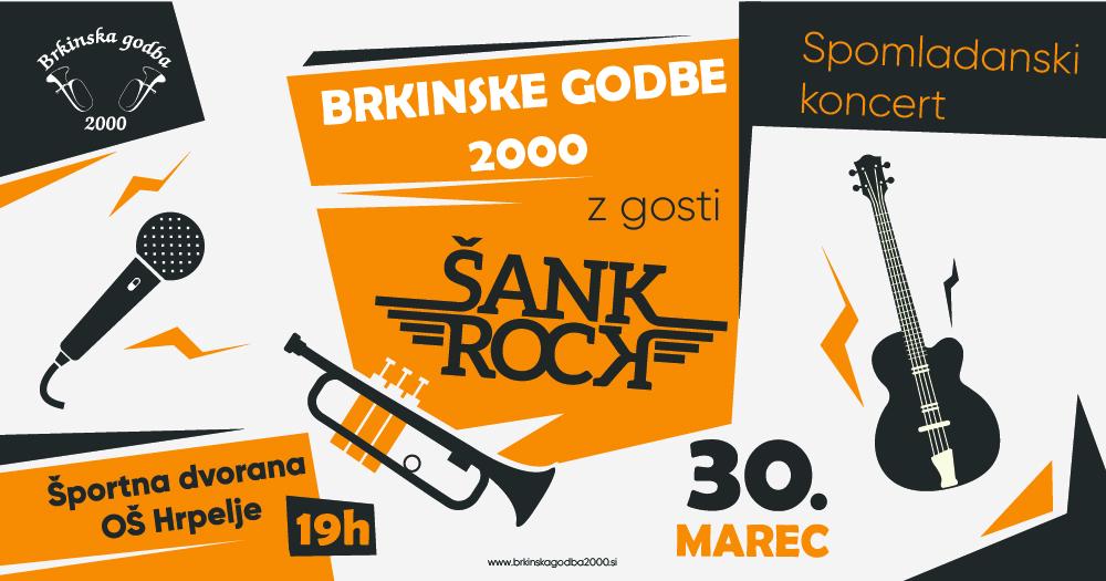 Spomladanski koncert z gosti Šank Rock @ Športna dvorana OŠ Hrpelje